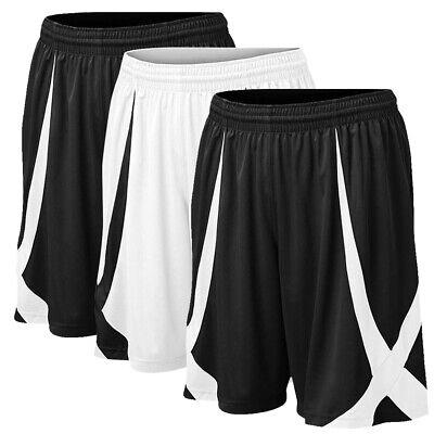 3x Lot TopTie Mens Basketball Shorts No Pockets MMA Pro Flag Football Gym Sports