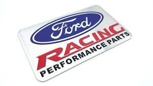 Ford Racing Performance Parts >> Ford Racing Performance Parts Emblem Badge Aluminum Sticker Ebay