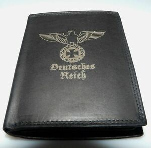 Reichsadler-Deutsches-Reich-Leder-Geld-Boerse-2-1-WK-Wehrmacht-Uniform-Foto-EK