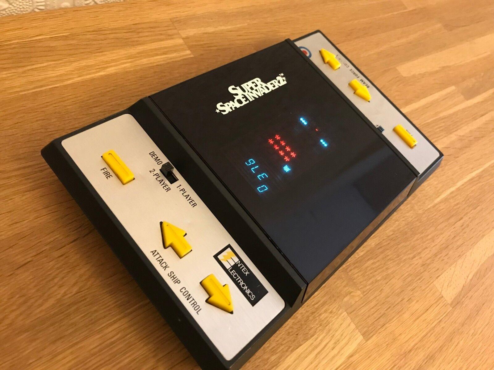Rare Entex Super Space Invader 2 Vintage 1981 Handheld Electronic Game Serviced