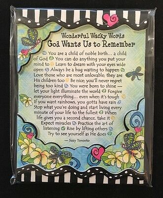 """Blue Mountain Arts Easel-back Print with Magnet """"Words God Wants Us To Remember"""""""