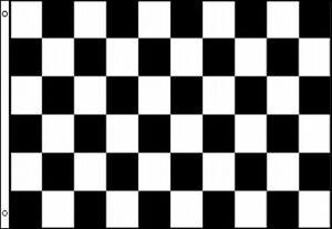 checkered flag 3x5 ft finish line race track car auto racing black