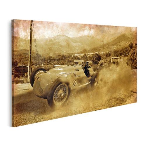 Bild auf Leinwand Oldtimer-Rennwagen Wandbild Poster Leinwandbild GDPQ