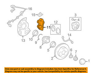 image is loading toyota-oem-front-brake-disc-caliper-4775060261
