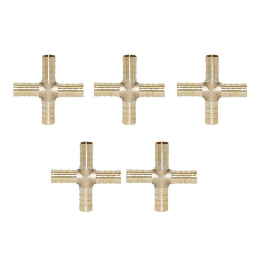 5x Messing Kreuz Steckverbinder Schlauchverbinder Verbindungsstück