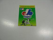 1990 Fleer Baseball Logo Stickers Montreal Expos Baseball Quiz on back