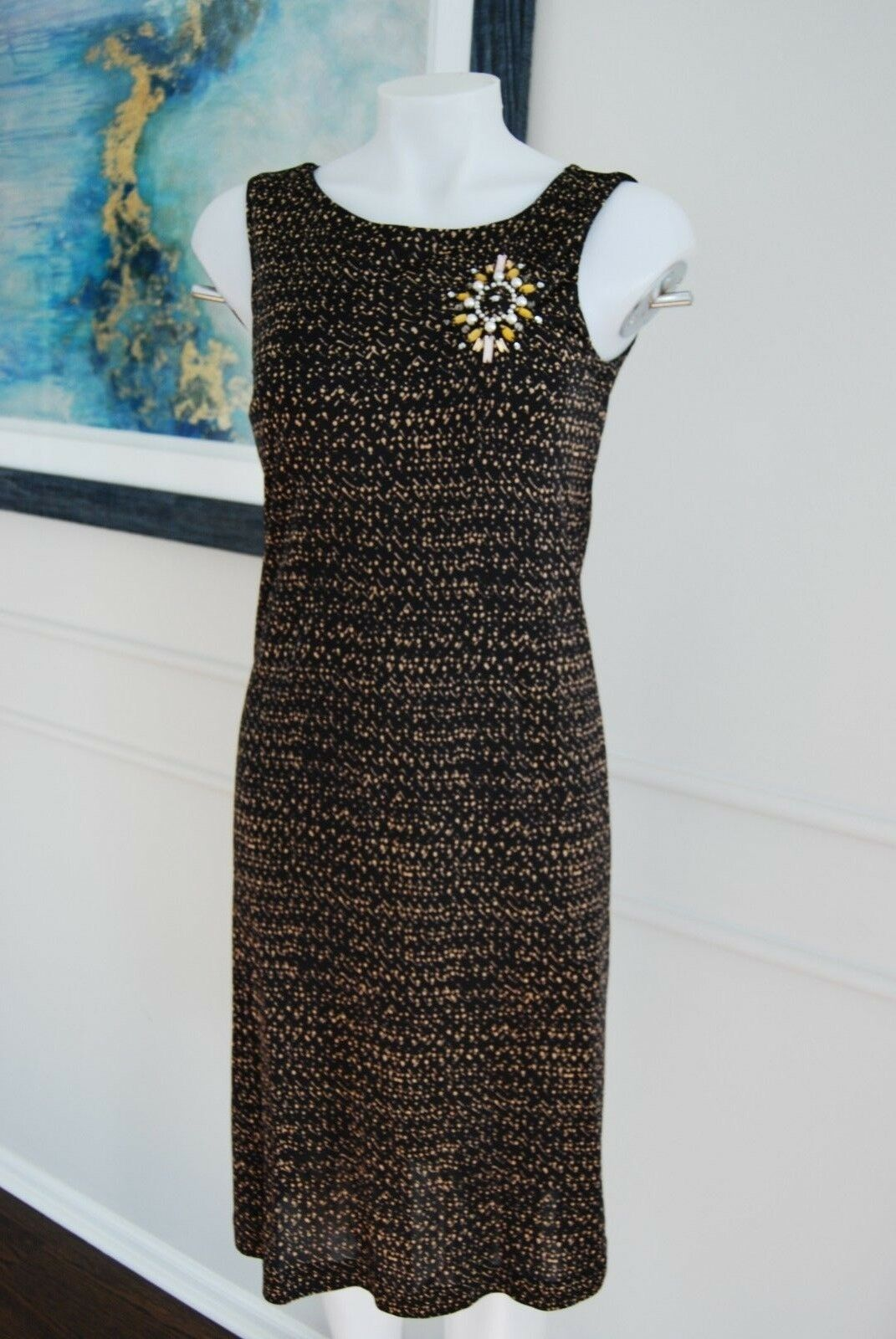 Maliparmi  Woman's Dress Sequins Fit ITALY  Size 42 8   Cute & Stylish
