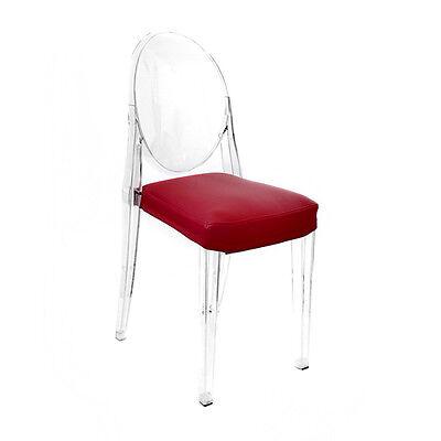 MYAREADESIGN IL CUSCINO per sedia KARTELL VICTORIA GHOST in ecopelle | eBay