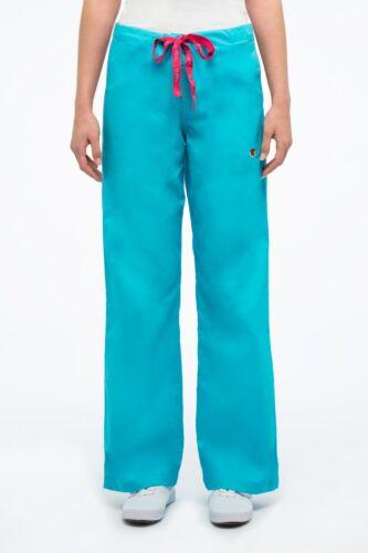 U-Feel Premium Women/'s Comfy Fit Drawstring Cargo Scrub Pants