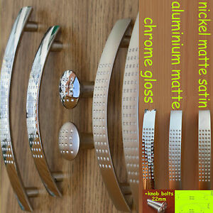 Kitchen-Door-Cupboard-Cabinet-Drawer-dimpled-Handles-steel-matte-gloss-satinUN8