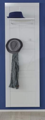 Wandgarderobe Garderobenpaneel Kito in Hochglanz weiß Flur Garderobe 53 x 193 cm