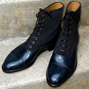 mens designer brogue boots