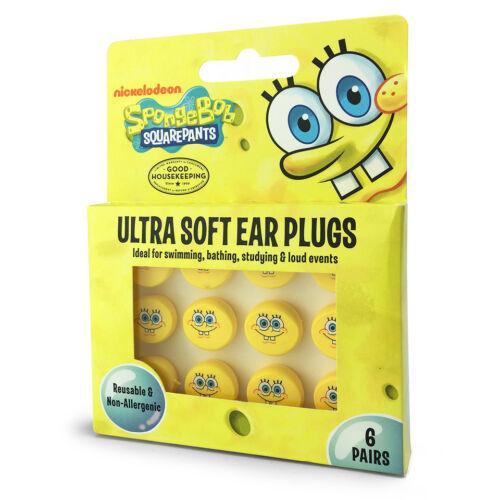 Kids SOFT Silicone CHARACTER Earplugs Nemo Spongebob Disney Kitty FREE UK P/&P!