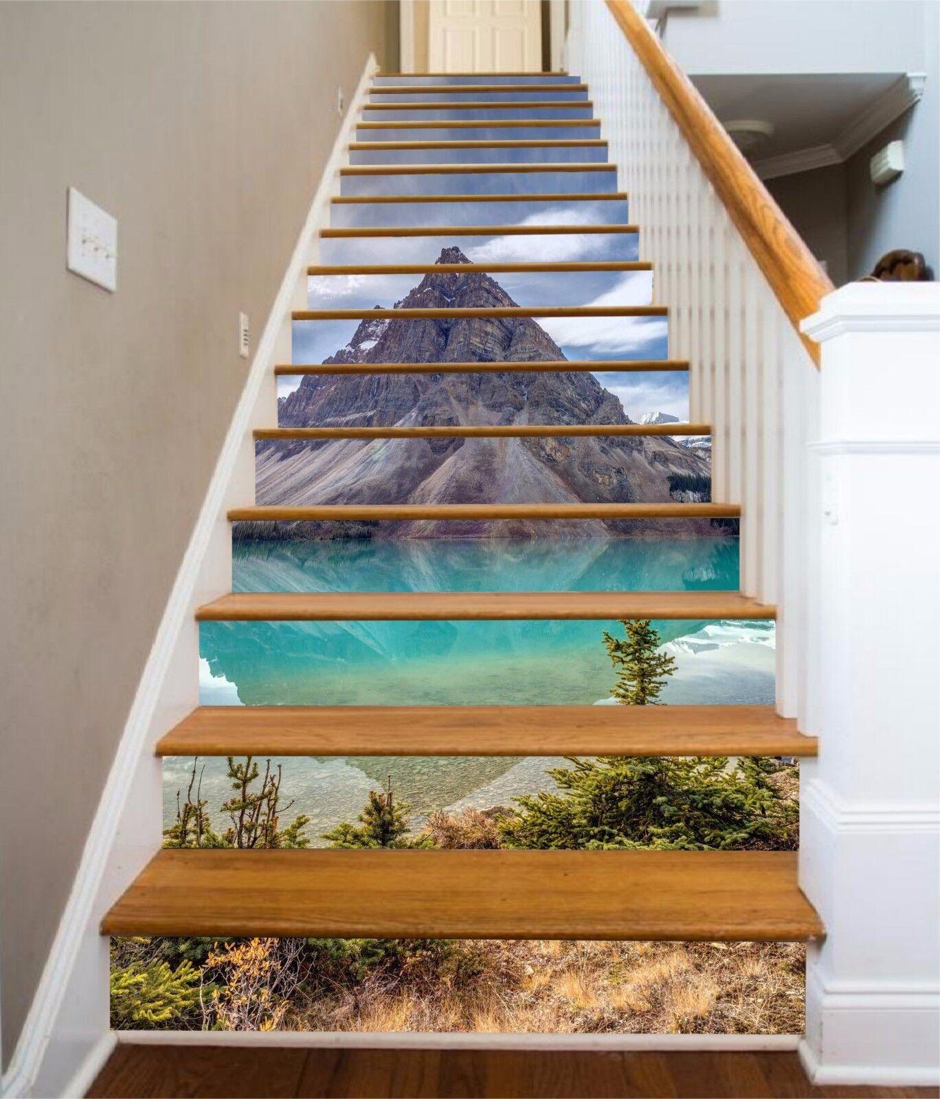 3D Mountain Lake 432 Risers Decoration Photo Mural Vinyl Decal Wallpaper CA