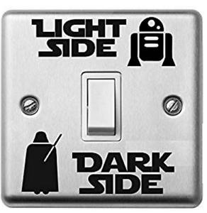 UK-Interruttore-luce-Star-Wars-Dark-Side-Lato-Adesivo-Vinile-Decalcomania