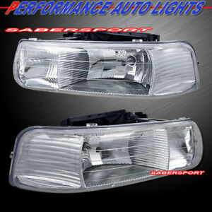 Image Is Loading Set Of Euro Clear Headlights For 99 06