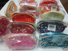 Wholesale Lot 12 Chinese Lady's Embroidery Coin Purse Zipper Wallet  4.5""