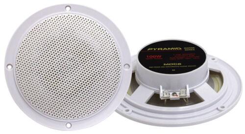 """Pyramid Mdc6 5.25/"""" Marine 100 Watts Dual Cone Waterproof Stereo Speakers pairs"""