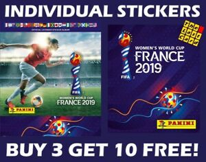 PANINI-FIFA-WOMEN-039-S-WORLD-CUP-FRANCE-2019-INDIVIDUAL-STICKERS-GROUP-A-1-99