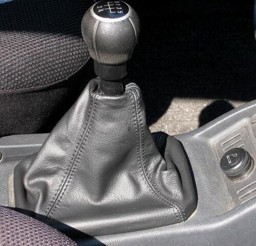 MPV//Space wagon CUFFIA CAMBIO IN VERA PELLE NERA Opel Meriva a Bj 2003-2010