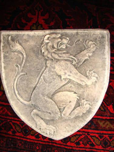 Scotland Scottish Rampant Lion shield stone wall art sculpture tile