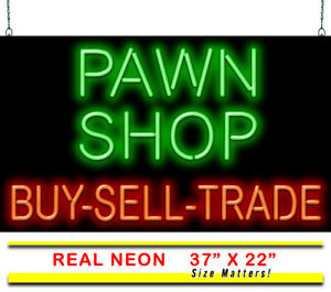 Pawn Shop Buy Sell Trade Neon Sign Jantec 37 X 22 Jewelry Collectors Ebay