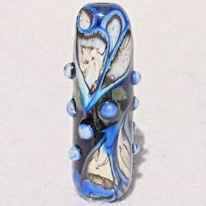 SUBZERO Handmade Art Glass Focal Bead Flaming Fools Lampwork Art Glass SRA