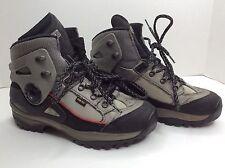LOWA Vibram Biomex Protection Men sz 7.5 Black/Silver hiking boots Preowned