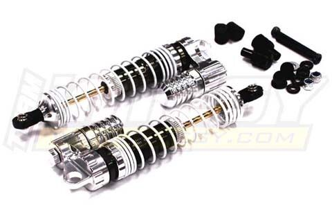 C23180SILVER Integy Piggyback Shock2for Axial SCX10 CF100, Dingo & Honcho