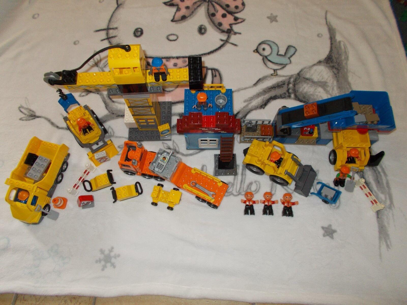 LEGO ® DUPLO-CANTIERE-XXL Set con 4987, 4988, 5651-con gru camion, ecc.