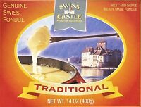 14oz Swiss Castle Traditional Genuine Swiss Fondue Heat Serve Ready Made