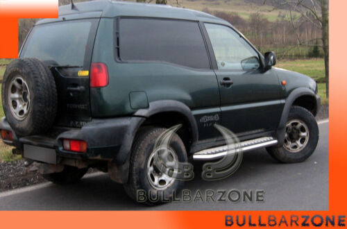 PROTECTIONS LATERALES NISSAN TERRANO II 1993-2005 MARCHE-PIEDS INOX PLAT