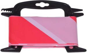 Absperrband 25 M Flatterband Warnband Signaux Sur Derouleur 8 Cm Large Rouge/blanc-afficher Le Titre D'origine Les Clients D'Abord