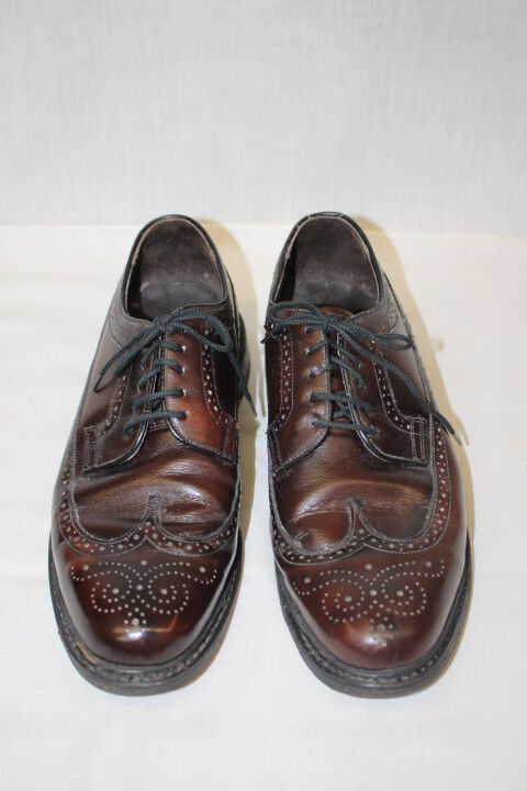 SEARS Brand, Brown Genuine Leather,  WING TIP , Casual Oxfords, Mens 10.5EE