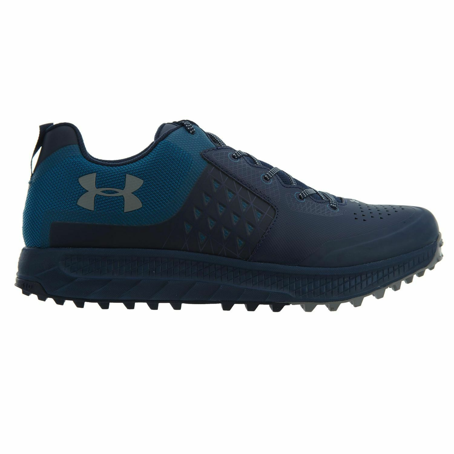 Under Armour Horizon Str Mens 1288967-408 Blue Steel Trail Running Shoes Sz 8