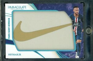2020 PANINI IMMACULATE SOCCER NEYMAR JR PSG ONE OF ONE 1/1 1 NM NIKE PATCH