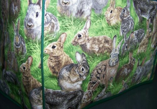 Rabbits Bunnies Bandits Quilted Fabric 2-Slice or 4-Slice Toaster Cover NEW
