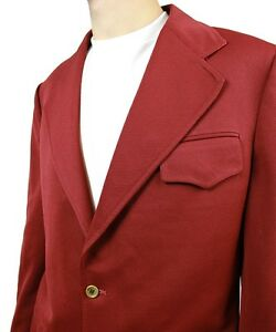vintage 70s blazer 38r dark rust brownish red sports coat jacket