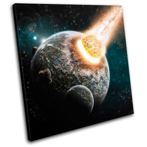 Universe Apocolypse stars Space SINGLE CANVAS WALL ART Picture Print VA