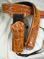 22 Ruger Colt S&w Western Fast Draw Sixgun Pistol Leather Gun Holster Belt