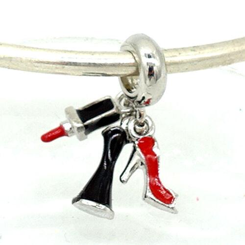 1pcs Silver CZ European Charm Beads Fit 925 Necklace Bracelet Pendant Chain DIY