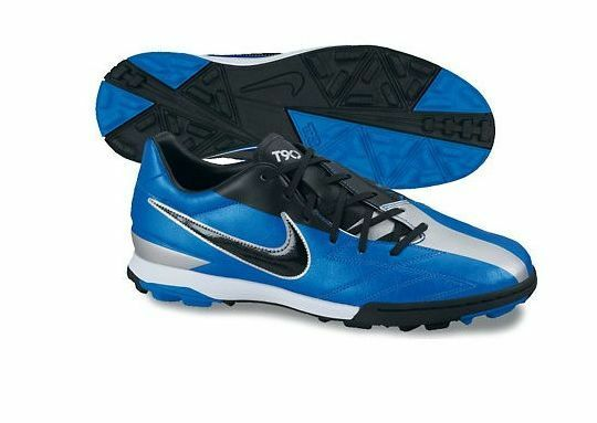 Nike Total 90 90 90 Shoot IV TF Turf 2011 Soccer shoes Brand New blueee - Black  Silver 8a3b83