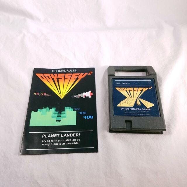Odyssey II Planet Lander! manual Packrat Video Games Homebrew TESTED GUARANTEED!