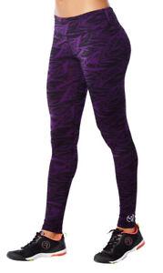 Zumba Funky Perfect Long Leggings Acai Purple size Small /& Medium