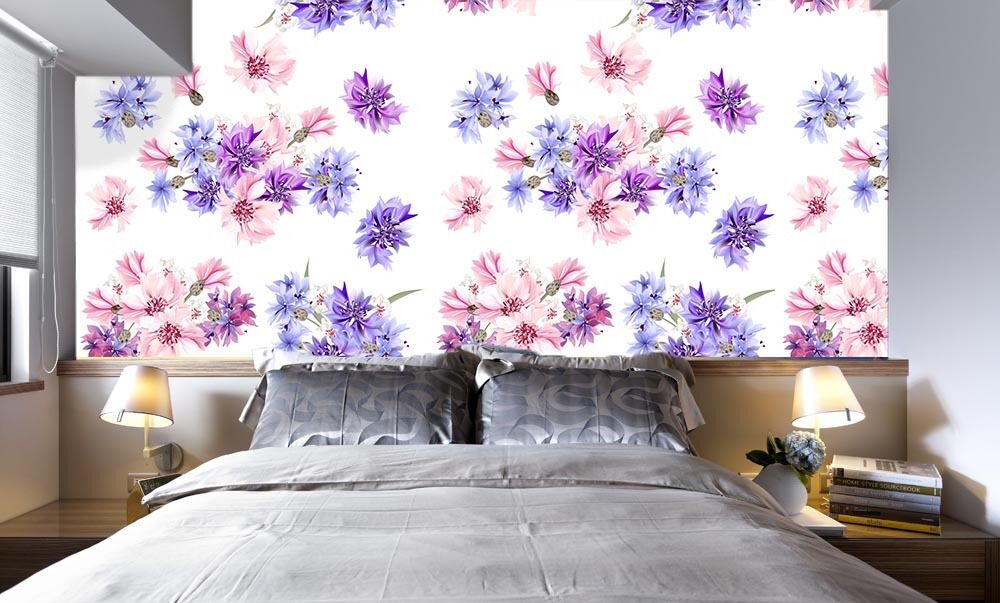 3D lila Small Floral 354 Paper Wall Print Wall Decal Wall Deco Indoor Murals