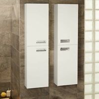 Bathroom Storage Furniture Wall Mounted Cabinet Drawer Compact White Towel Unit