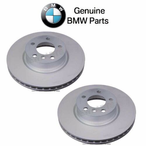 For BMW F25 X3 F26 X4 Pair Set of Front Left /& Right Vented Disc Brake Rotor OES