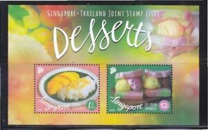 SINGAPORE-2015-THAILAND-JOINT-ISSUE-LOCAL-DELIGHT-DESSERTS-SHEET-2-STAMPS-MINT
