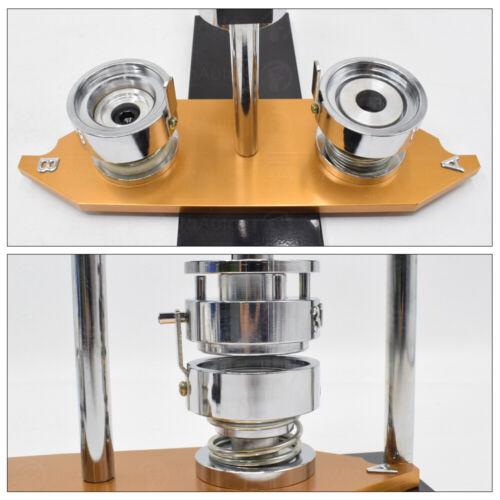 Bouton Insigne Maker Punch Machine de presse /& 300PCS Round PIN parts /& Circle Cutter