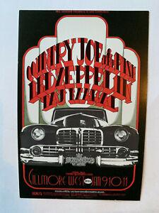 Led-Zeppelin-Country-Joe-Bill-Graham-BG-155-Fillmore-West-Post-Card-1969